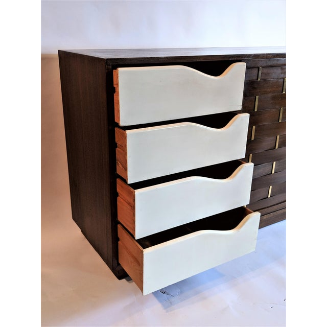 Harvey Probber Woven Front Credenza Sideboard - Image 7 of 10