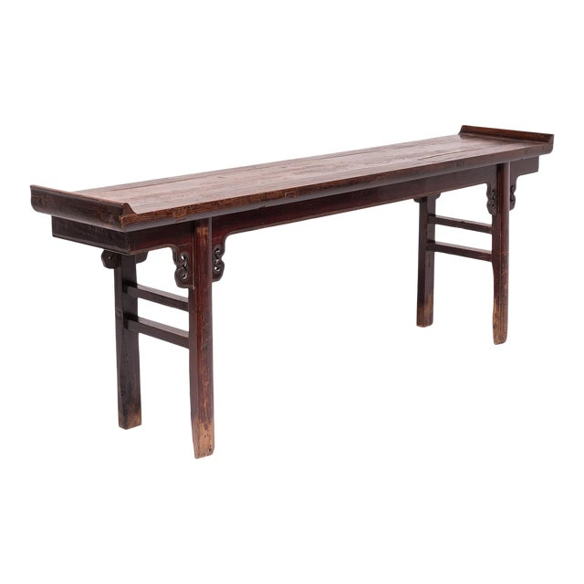 Lacquered Altar With Double Ear Spandrels For Sale