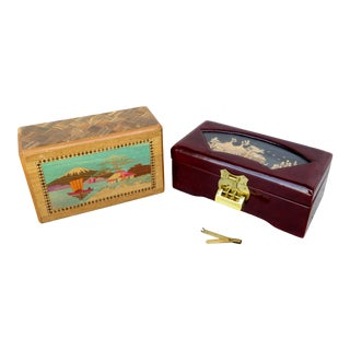 Chinese Wood Boxes - Set of 2 For Sale