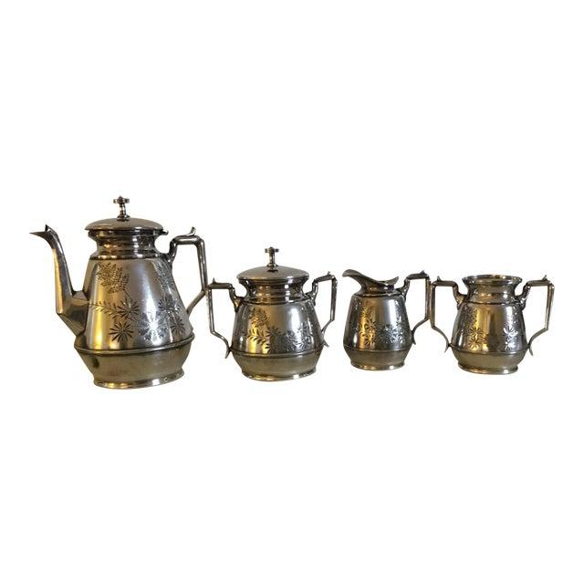 Meriden B Company Silver Plated Tea Set For Sale