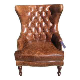 Lazzaro Leather Sedgefield Tufted Chair