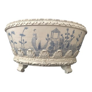 Vintage Oriental Style Jardiniere Planter For Sale