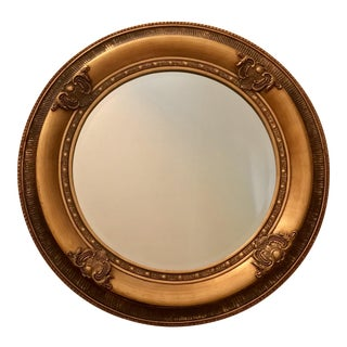 Large Circular English Goldleaf Mirror For Sale