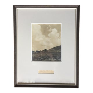 1935 Custom Framed Landscape Photo-Signed Odarenko For Sale