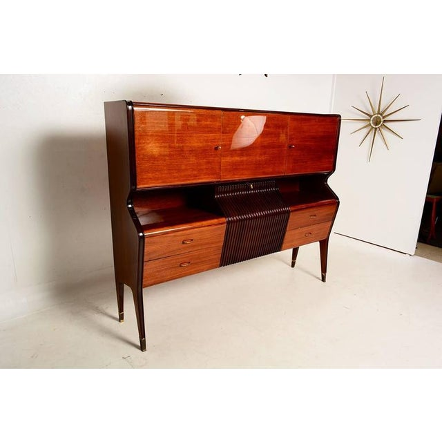 Italian Osvaldo Borsani Attributed Bar Cabinet in Rosewood For Sale - Image 3 of 11