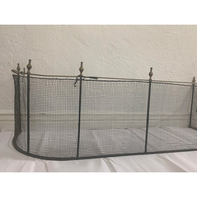1800 Federal Style Brass and Wire Steeple Top Fire Fender For Sale - Image 10 of 13