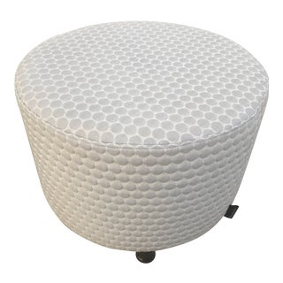 Polka Dot Round Commercial Ottoman For Sale