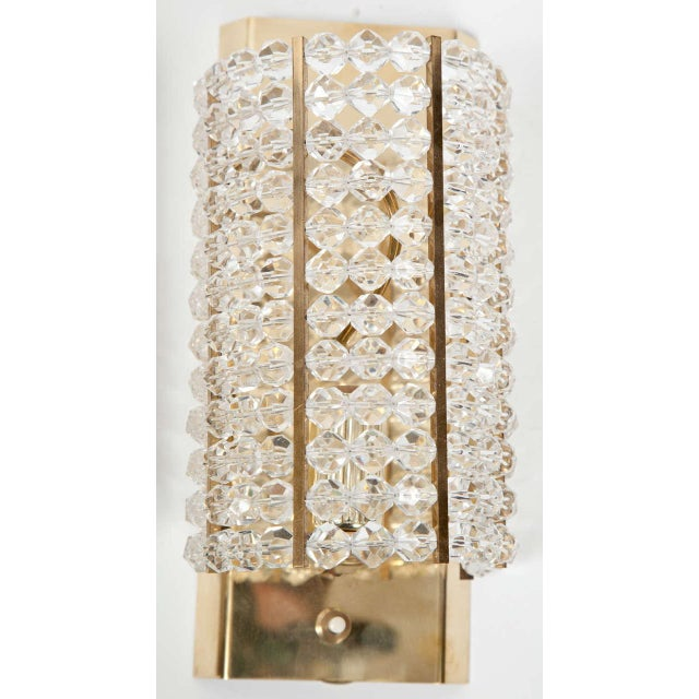 Lucite and Brass Sconces - A Pair For Sale - Image 4 of 6