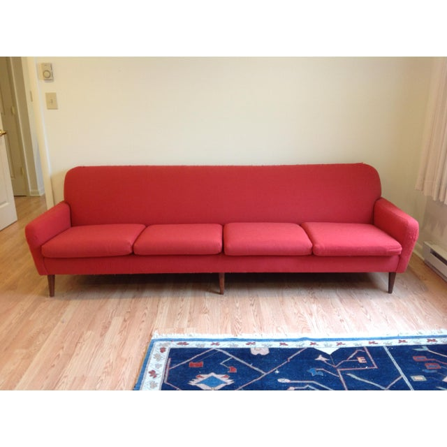 Folke Ohlsson forDux Four Seat Red Sofa