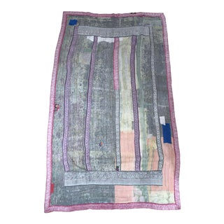 Indian Pink and Purple Kantha For Sale