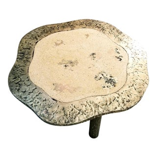 Rare Silas Seandal Terra & Bronze Coffee Table For Sale