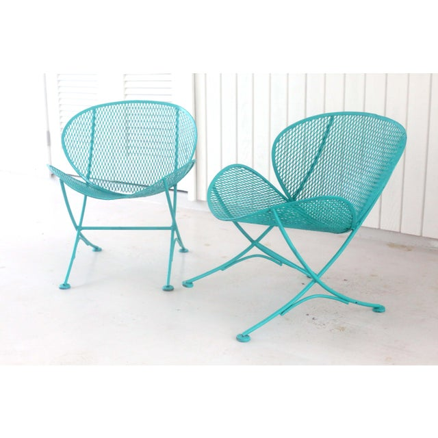 1960s Salterini Turquoise Clam Chairs - a Pair For Sale - Image 13 of 13