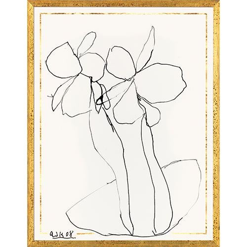 Arthur Krakower's Ink Flower 4 is both profound and familiar in its abstract and emotive quality, with bold strokes...