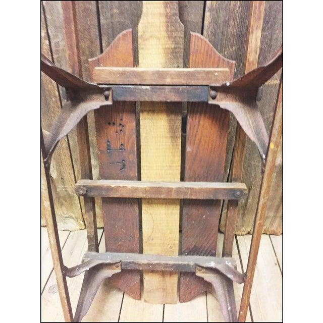 Vintage Wood & Metal Runner Sled - Image 11 of 11