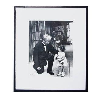 "Nat Fein Signed ""Albert Schweitzer"" Silver Gelatin Photograph For Sale"