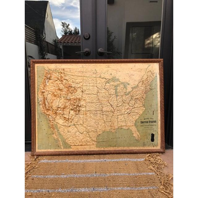Vintage Framed United States Map | Chairish