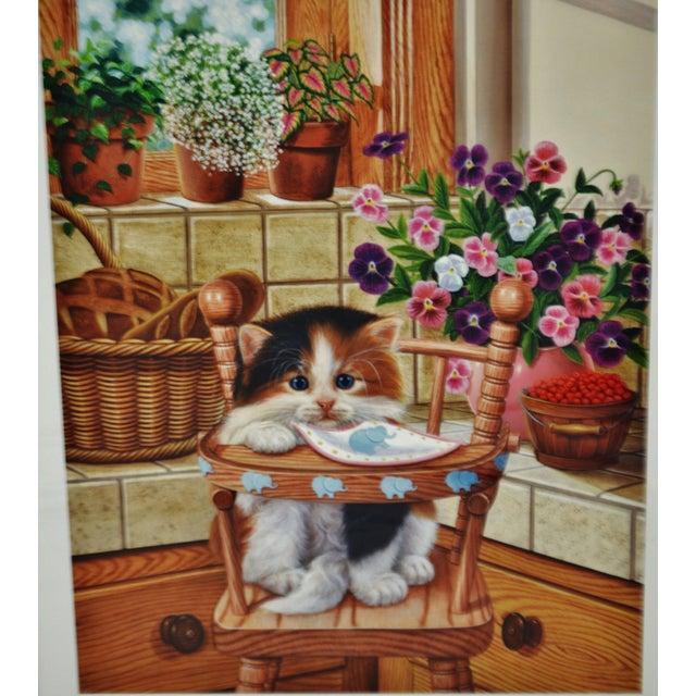 Vintage Signed Barbara Higgins Bond Sunday Brunch Limited Edition Textured Lithograph For Sale - Image 4 of 13