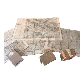 Napoleon Empire Battle Map 32 Pieces with Prince Letters 1812, Period