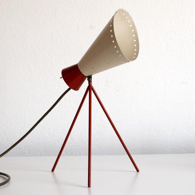Josef Hurka 1950s Mid-Century Model 1618 Desk Lamp by Josef Hurka for Napako, Czechoslovakia For Sale - Image 4 of 13