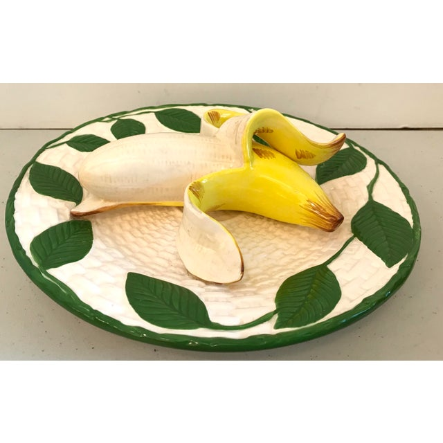 Mid-Century Modern Vintage Trompe L'Oeil Banana Plate For Sale - Image 3 of 8