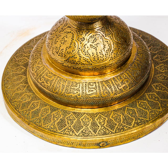 19th Century Antique Syrian Brass Dining Table Base For Sale - Image 11 of 13