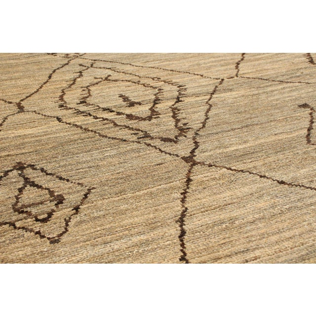 Textile Moroccan Style Hand-Knotted Rug For Sale - Image 7 of 9