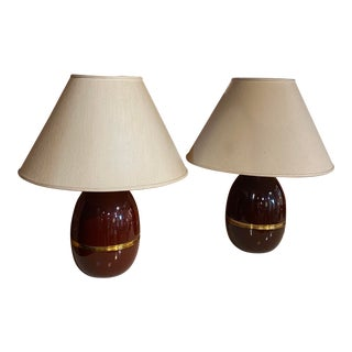 Vintage 1960s Italian Table Lamps - a Pair For Sale