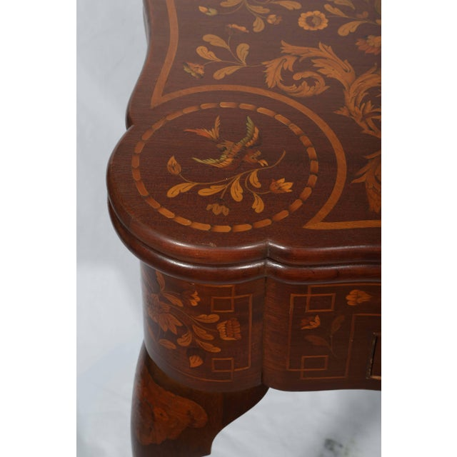 Brown Fine Dutch Marquetry Game Table For Sale - Image 8 of 11