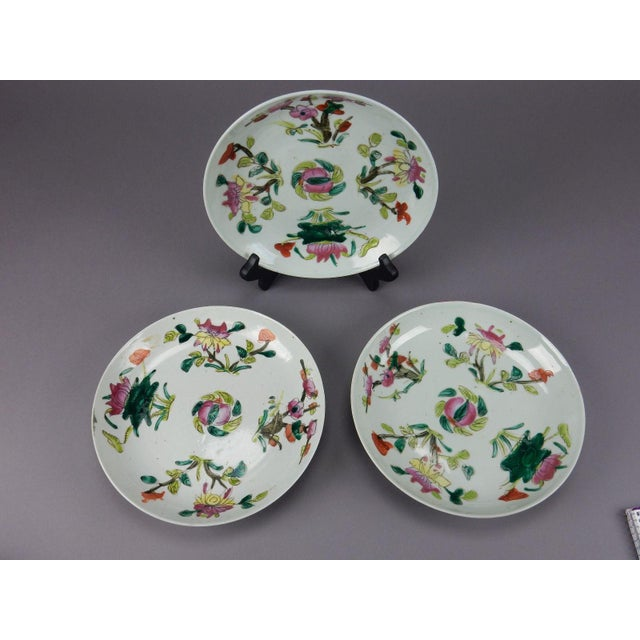 Antique Chinese Qing Dynasty Plates - Set of 3 - Image 4 of 11