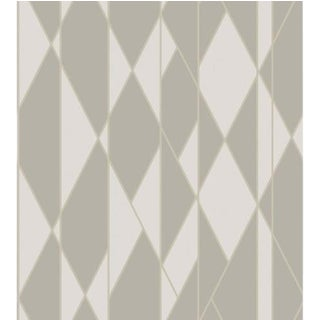 Cole & Son Oblique Wallpaper Roll - Grey And White For Sale