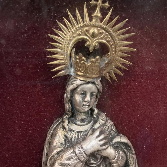 Late 19th Century 19th Century Madonna in Octagonal Frame For Sale - Image 5 of 12