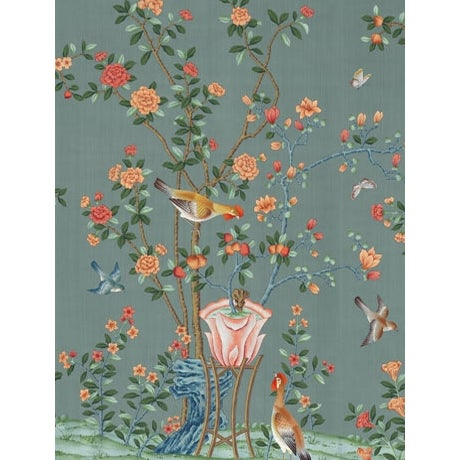 Chinoiserie Casa Cosima Ming Fauna Wallpaper Mural - Sample For Sale - Image 3 of 3