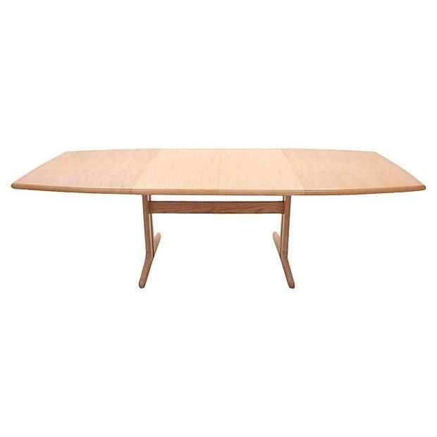 Mid-Century Modern Trestle Table - Image 1 of 7