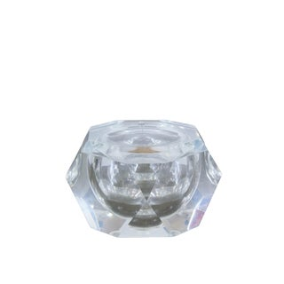 1970s Faceted Lucite Ice Bucket For Sale