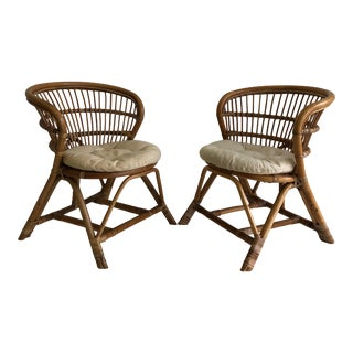 Vintage Franco Albini Style Chairs = a Pair For Sale