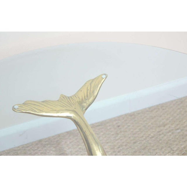 Brass Dolphin Coffee Table For Sale - Image 5 of 9