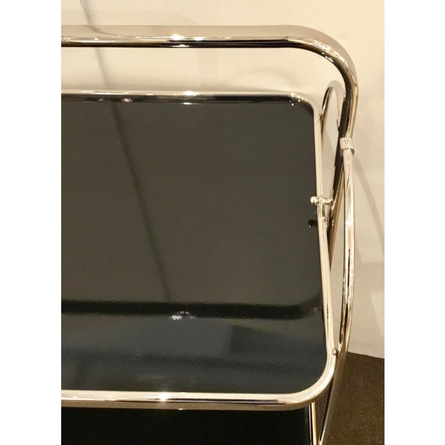 2010s Global Views Modern Nickel Plaza Bar Trolley For Sale - Image 5 of 6