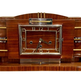 European French Restored Art Deco Modernist Clock Radio For Sale