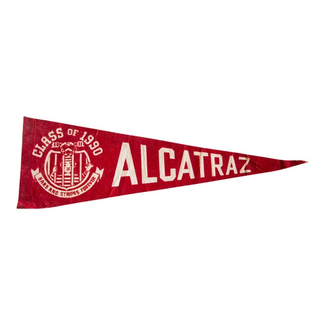 Class of 1990 Alcatraz Brass and Stripes Forever Felt Flag For Sale