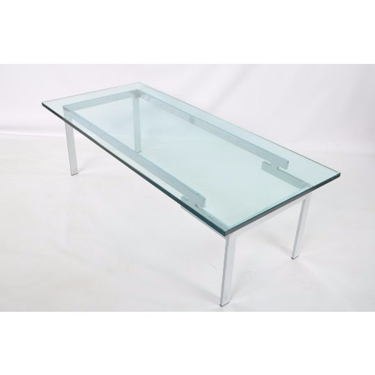 Glass & Chrome Staggered Base Coffee Table - Image 3 of 6