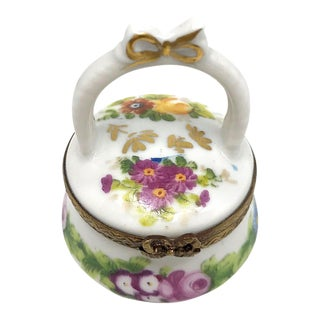 Limoges Box, Little Flower Basket For Sale