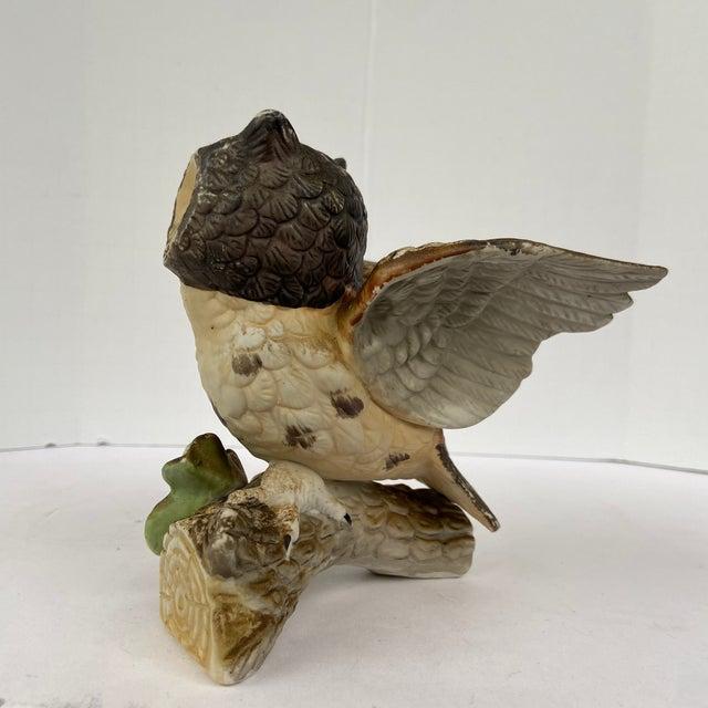 Vintage Ceramic Owl Figurine For Sale - Image 4 of 11