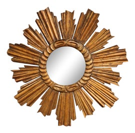 Image of Wood Sunburst Mirrors
