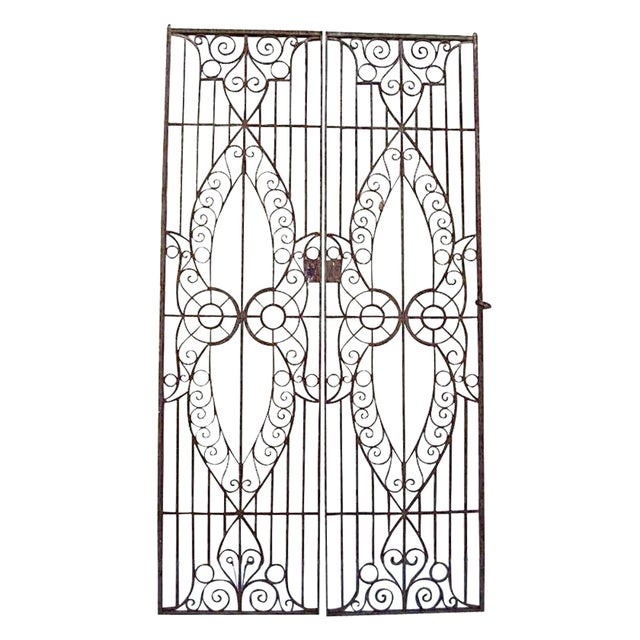 19th C. Egyptian Iron Gates - A Pair - Image 1 of 6
