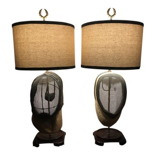 Custom Fencing Mask Lamps - A Pair