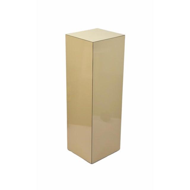 Vintage Modern Beige Pedestal Sculpture Plant Stand For Sale In Chicago - Image 6 of 6