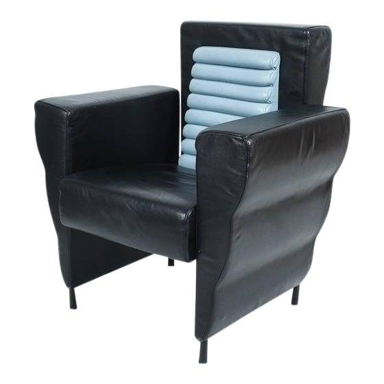 Leather Armchair by Ugo La Pietra, 1985 For Sale