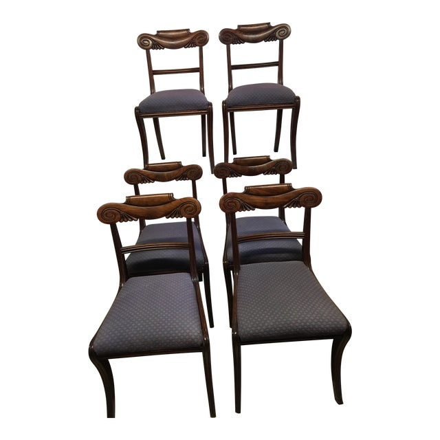 19th Century Antique English Mahogany Chairs - Set of 6 For Sale
