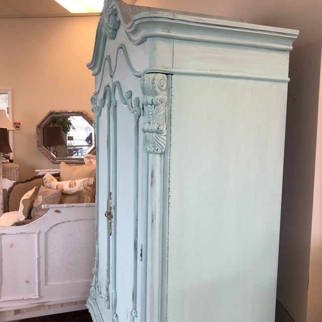 French Provencal Large Scale Armoire For Sale - Image 11 of 13