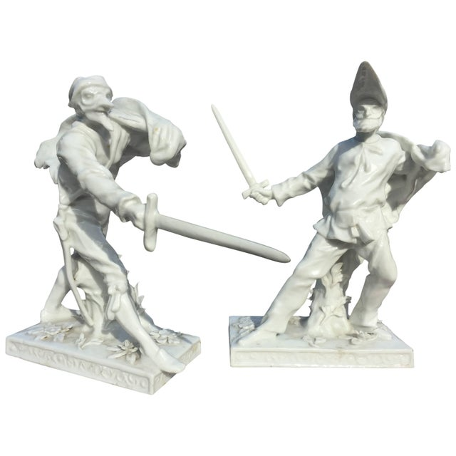 Pair of Porcelain Sculptures For Sale - Image 9 of 9